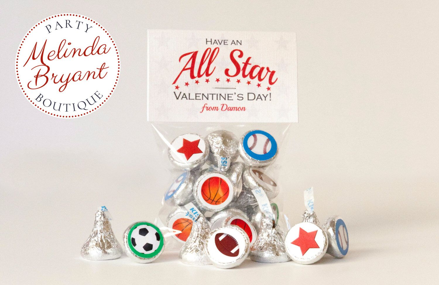 sports themed personalized valentine card sticker kits for