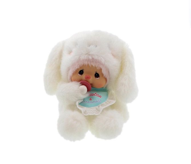 293770+293780  Monchhichi Baby Bebichhichi Mokomoko Plush BBCC Boy /& Girl PAIR