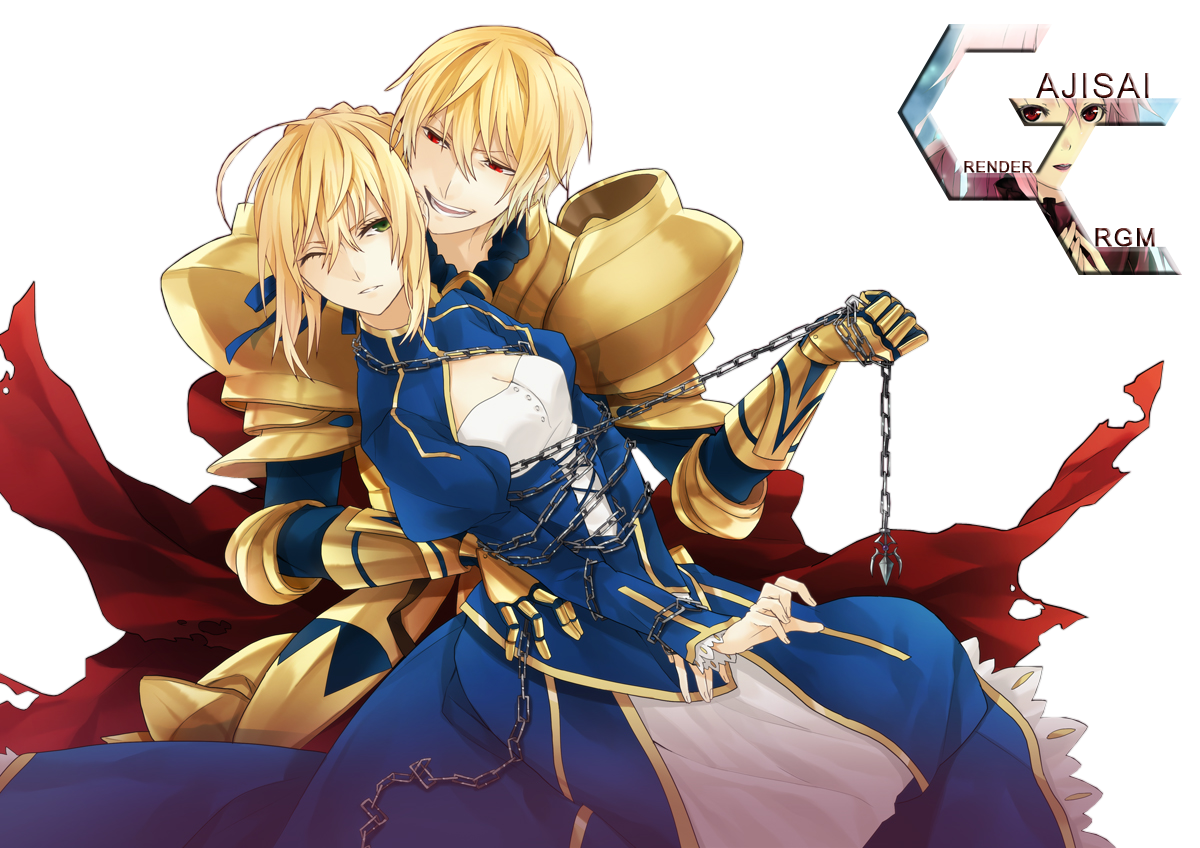 Saber and archer Fate/ ( mostly Golgamesh x3