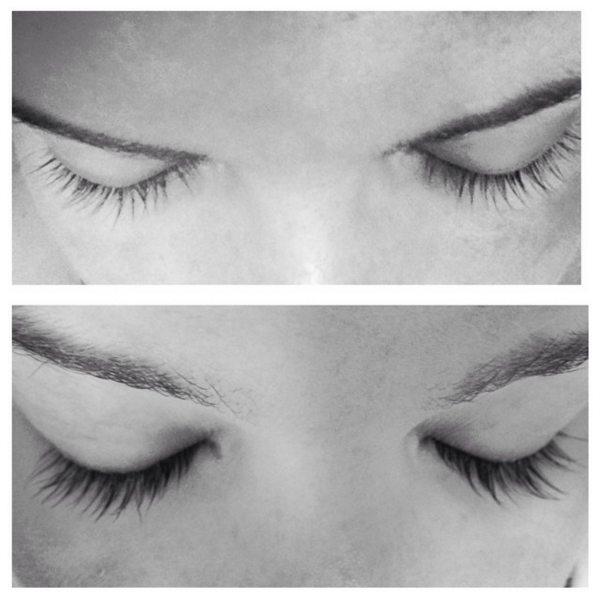 f94dcafee71 Meagan's lashes after 8 weeks using Babe Lash Serum. No mascara either.