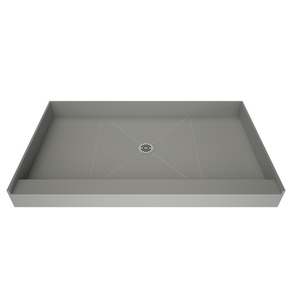 Redi Base 36 in. x 60 in. Single Threshold Shower Base in Grey