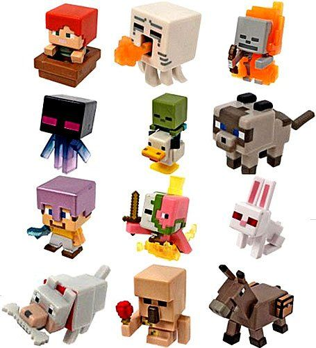 Amazon.com: Minecraft Mini Figures Ice Series 5 Complete Set of 12: Toys & Games