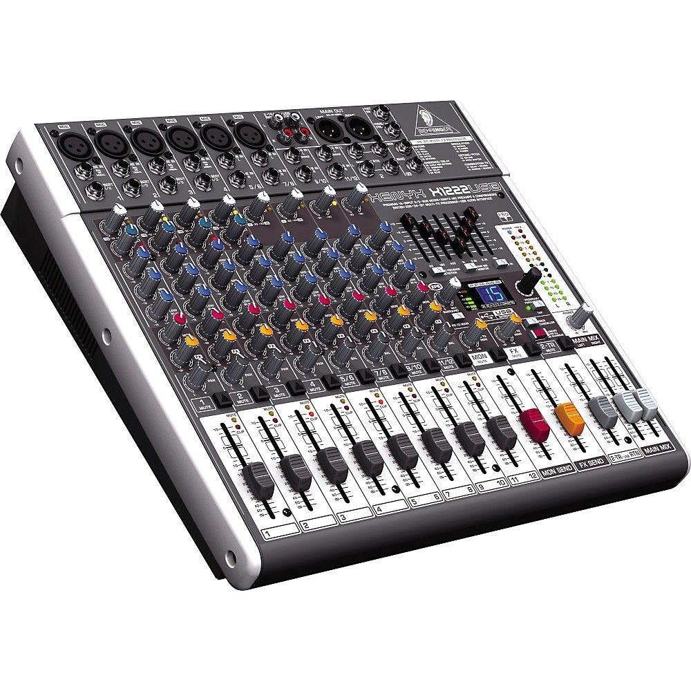 Behringer Xenyx X1222usb Usb Mixer With Effects Digital Audio Workstation Audio Usb