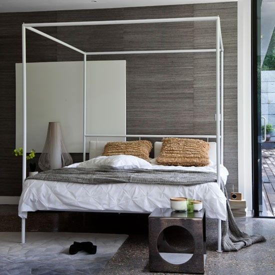 Superior Grasscloth Wall Covering | Modern Bedrooms | PHOTO GALLERY | Homes U0026  Gardens | Housetohome.