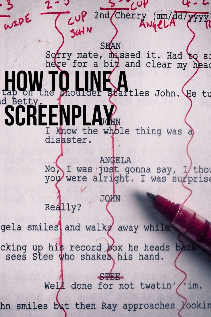 article on how to line a screenplay for continuity coverage and