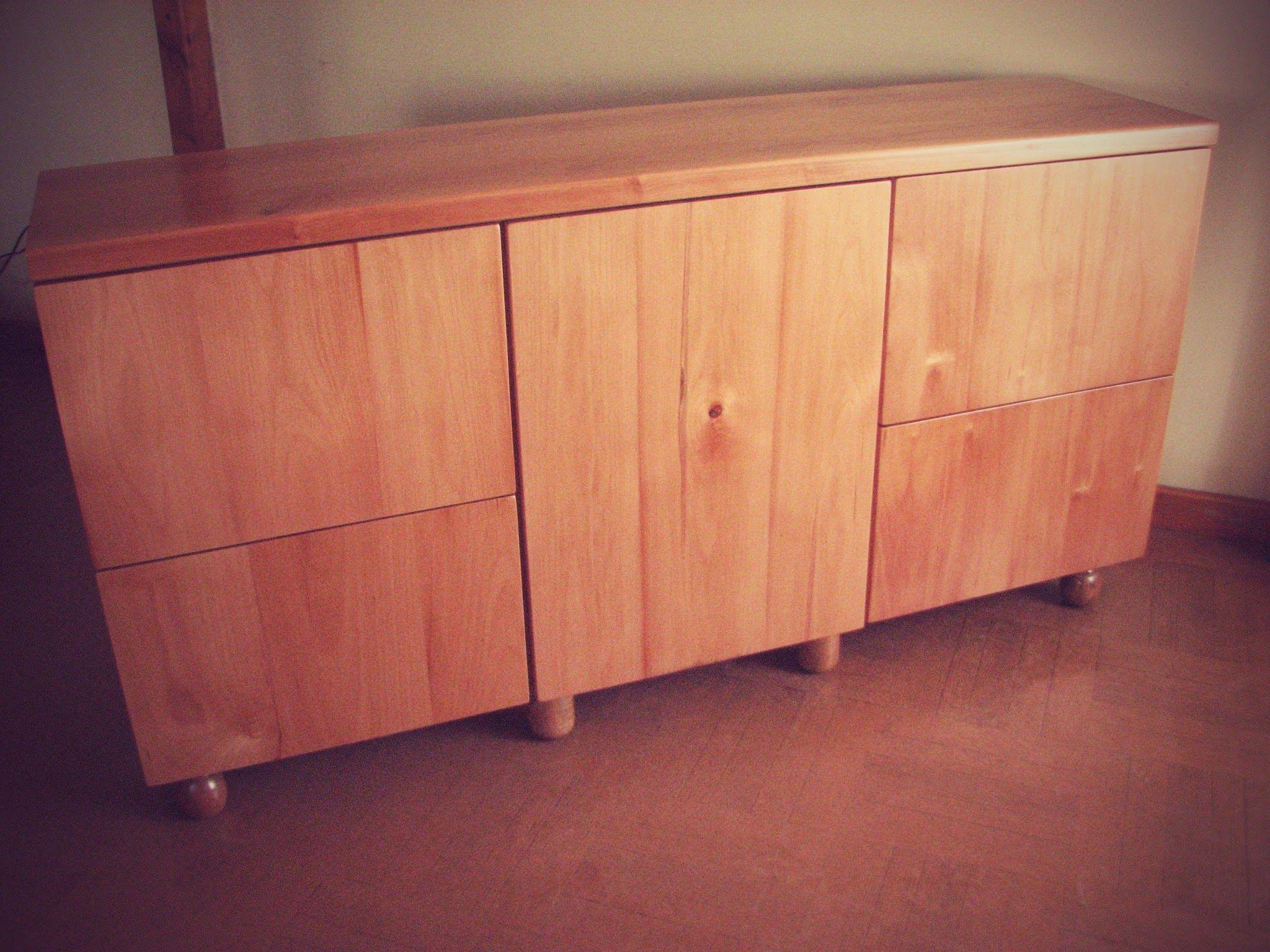 Mueble construido con madera de raulí | Aparador raulí | Pinterest ...
