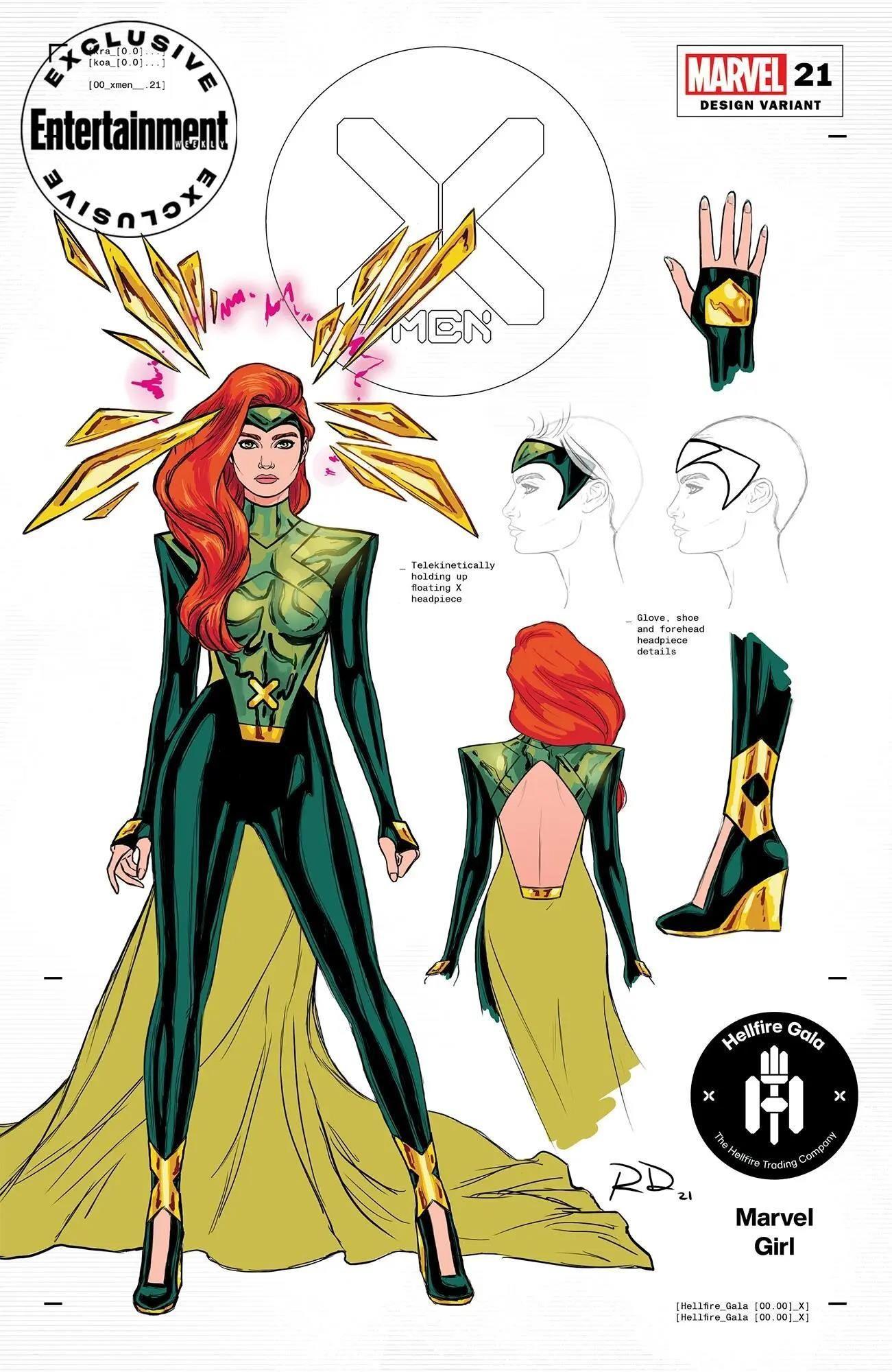 Hellfire Club Gala X-Men Designs - Jean Grey by Russell Dauterman * in 2021  | Marvel jean grey, Marvel girls, X men