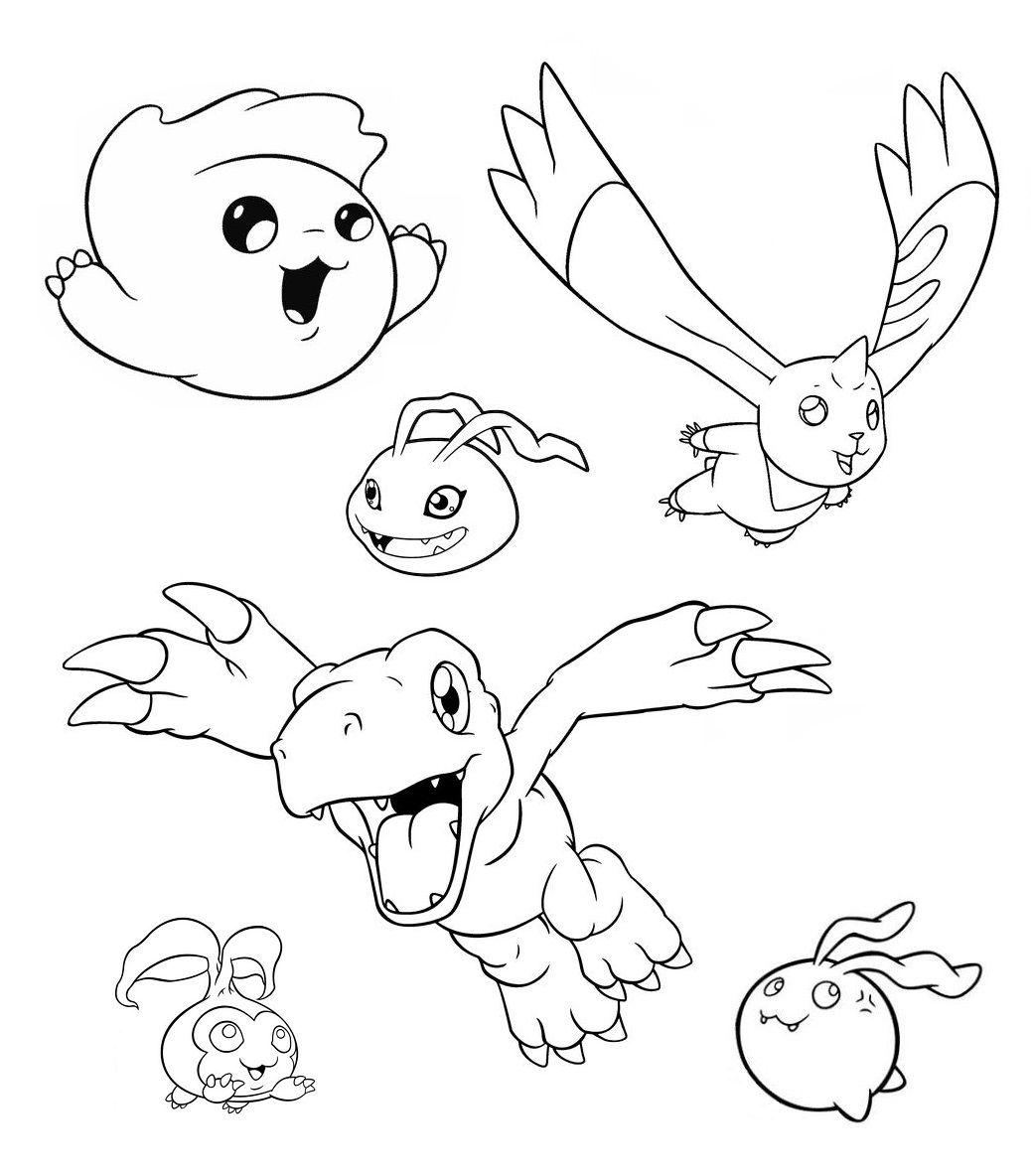 Digimon - coloring page | Coloring Pages | Pinterest | Digimon, Dbz ...