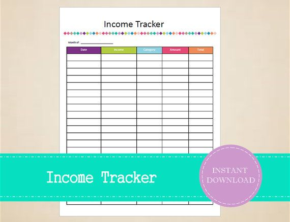 Income Tracker - Business Planner - Sales Tracker - Small Business