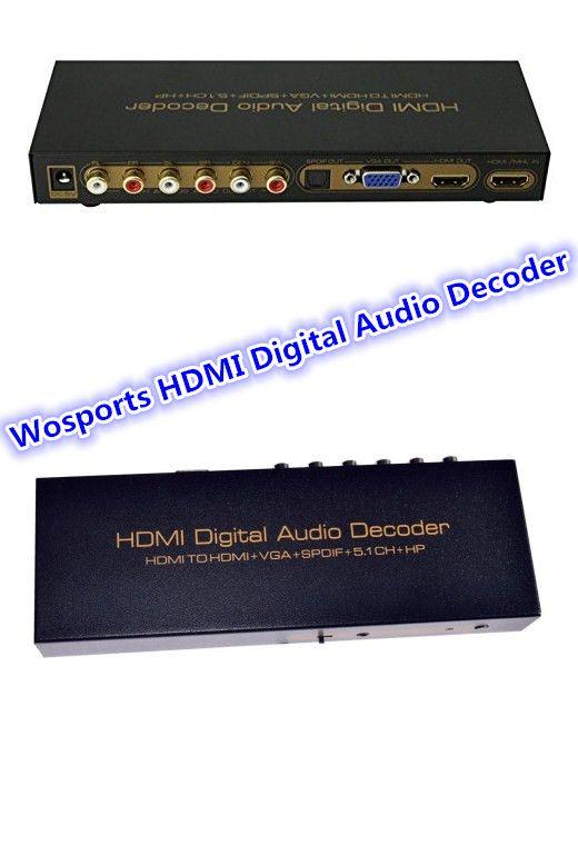 #AudioDecoder Wosports HDMI Digital Audio Decoder HDMI TO HDMI VGA SPDIF Adapter Here: http://goo.gl/CXQtOU