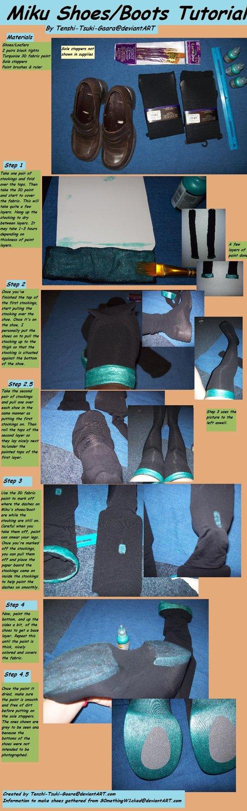 Miku Shoes Tutorial by Tenshi-Tsuki-Gaara on DeviantArt
