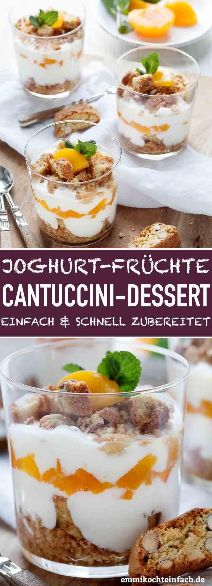 Photo of Joghurt Cantuccini Dessert mit Pfirsichen – emmikochteinfach