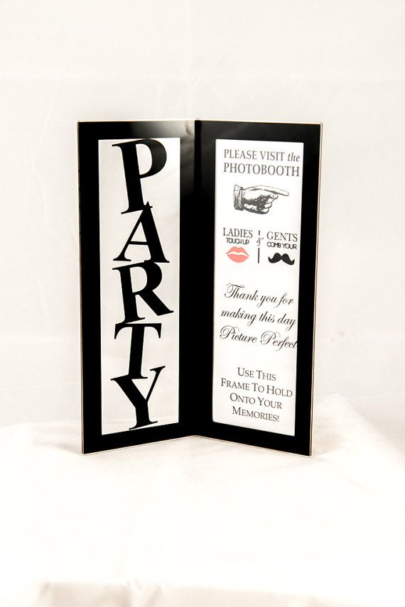 Photo Booth Frame, 2x6, Party photo booth frame with photo booth ...