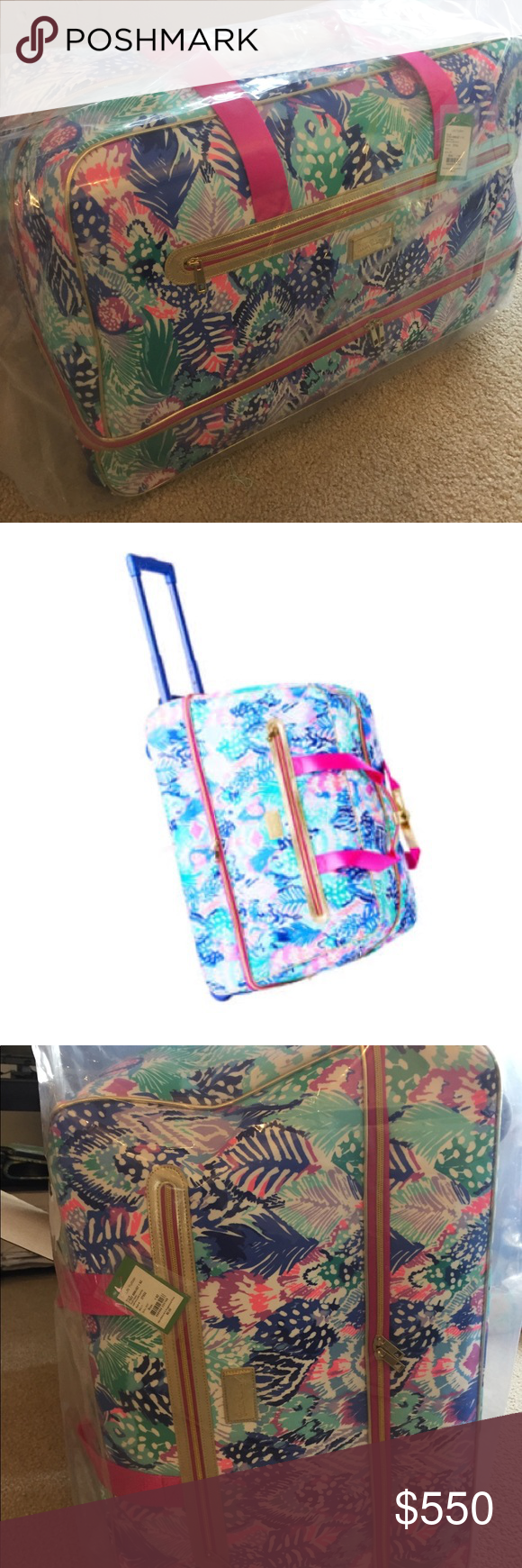 5055a2ef4c NWT Lilly Pulitzer Rolling Oversized Duffel bag Printed Rolling Duffel  makes traveling to your next getaway