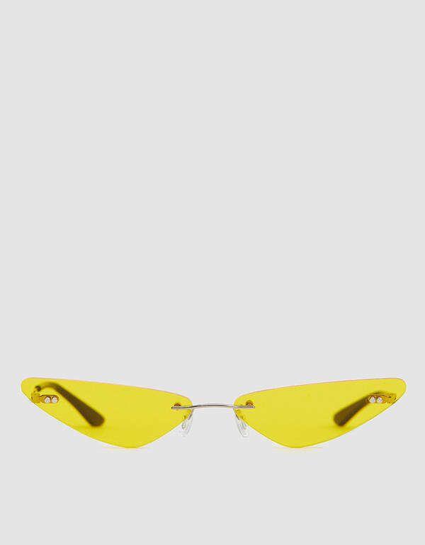 Paul Chavarria #02 Yellow Rimless Sunglasses