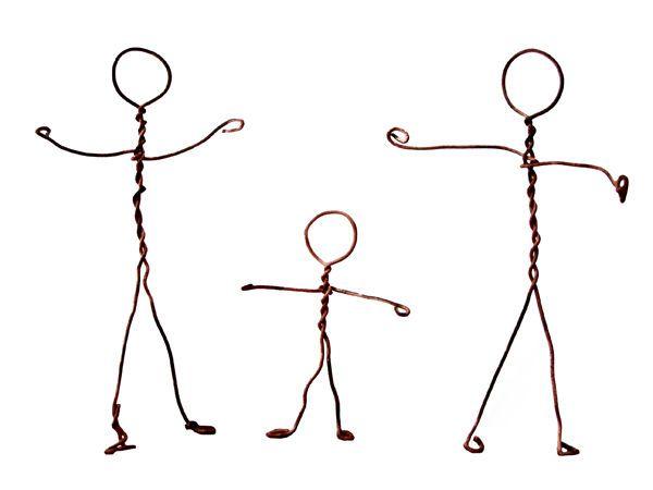 Bonhomme fil de fer medium wire pinterest bricolage miniatures and craft - Comment faire un bonhomme ...