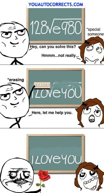 Haah Best Valentines Gift For A Math Nerd P Rage Comics Funny Funny Pictures Nerd Love