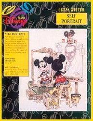 Disney/'s Cross Stitch Pattern,DIY Triple Self-Portrait Mickey /& Walt