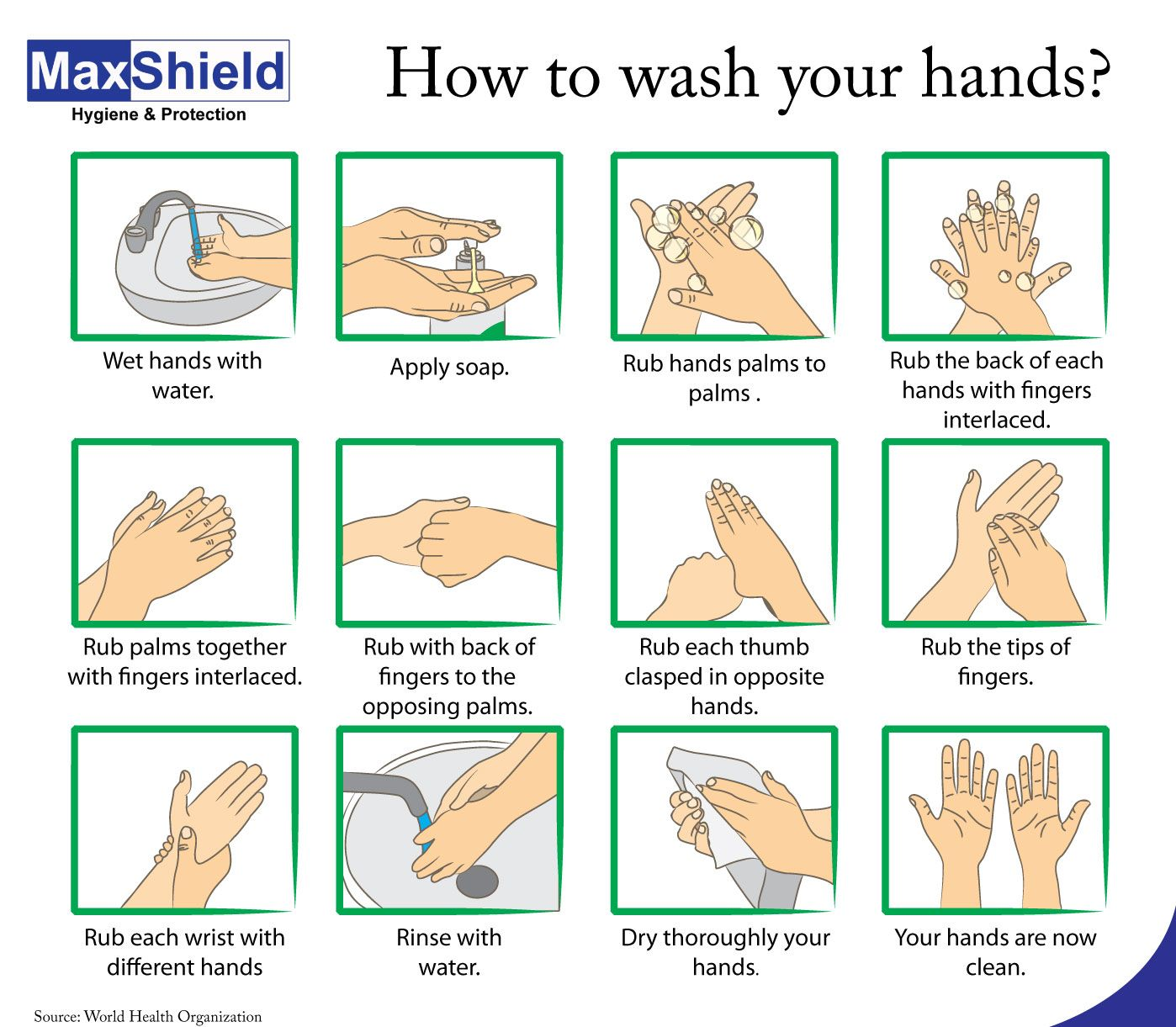 Hand Washing 6 Steps To Kill The Germs On Your Hands Hand