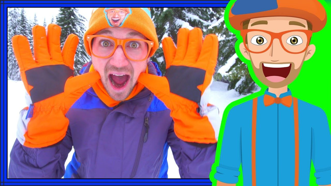 Snowmobile in the Snow with Blippi Winter Outfit for