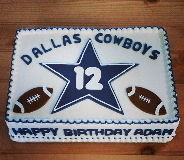 Wondrous Dallas Cowboys Cake Dallas Cowboys Birthday Cake Dallas Cowboys Birthday Cards Printable Benkemecafe Filternl