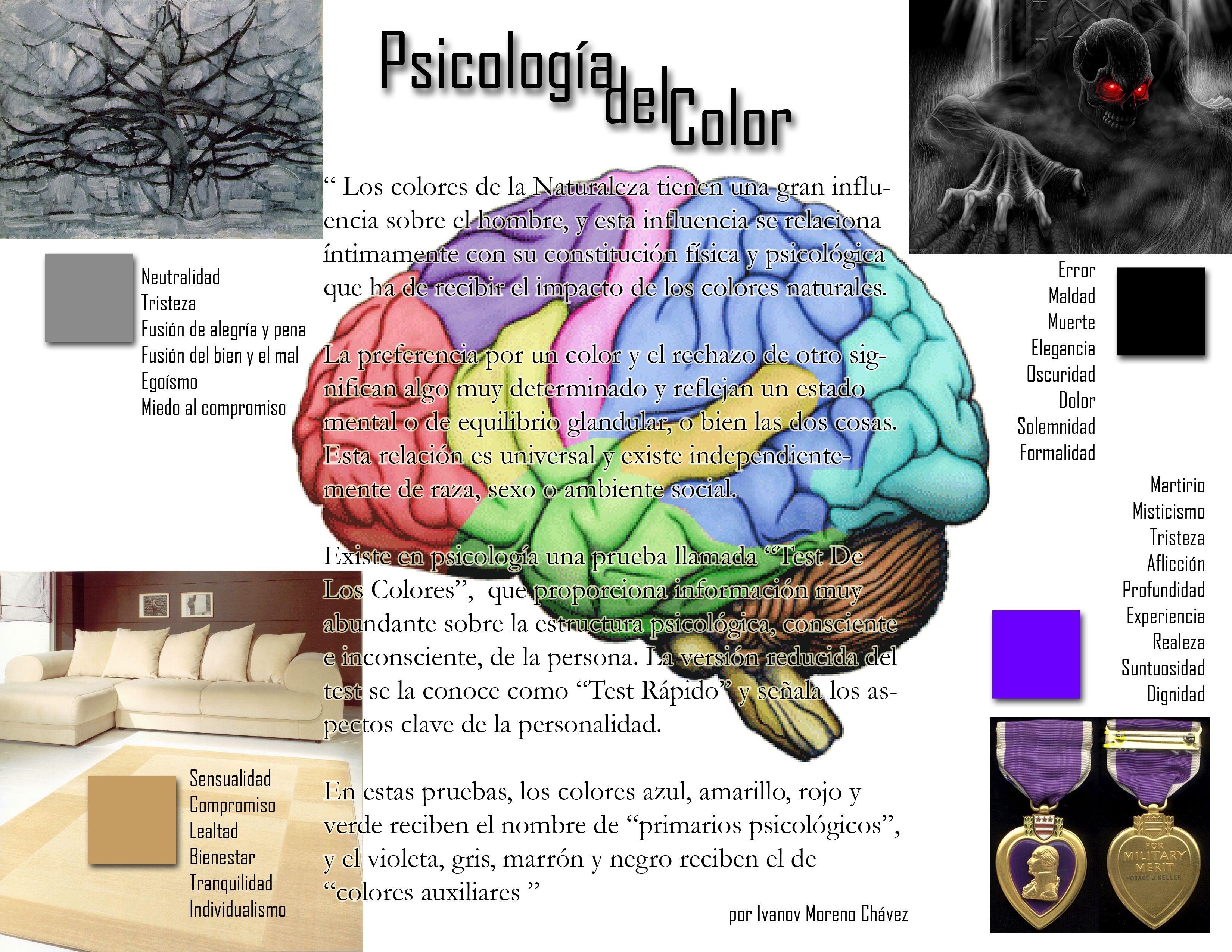 Color En El Cerebro Psicologia Del Color Colores Naturales Colores