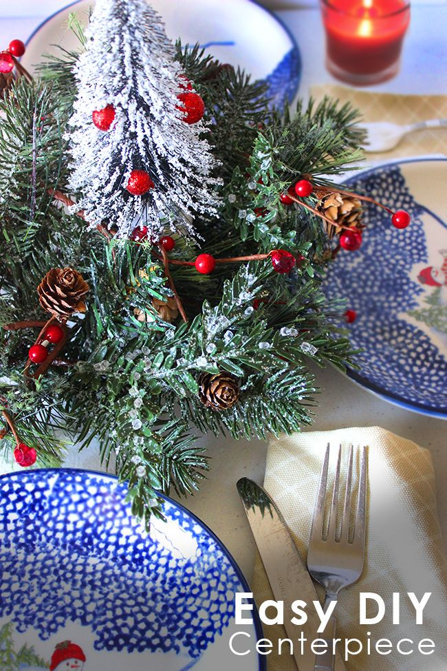 Exceptional Mini Christmas Tree Centerpiece DIY Craft. Simple Holiday Table Decor You  Can Make In Minutes Good Ideas