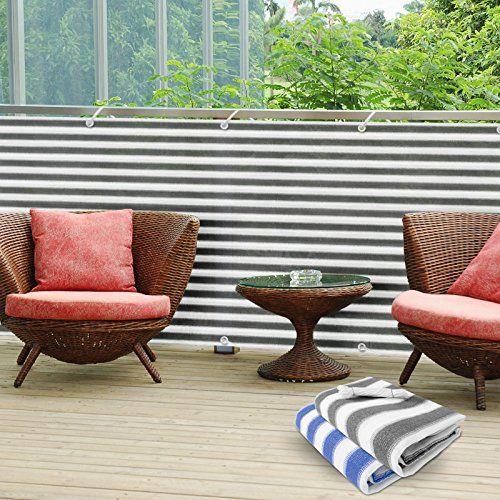 Balkon Sichtschutz Uv-schutz | 90x500cm | Wetterbeständiges Und ... Sichtschutz Mit Balkonbespannung 23 Coole Ideen