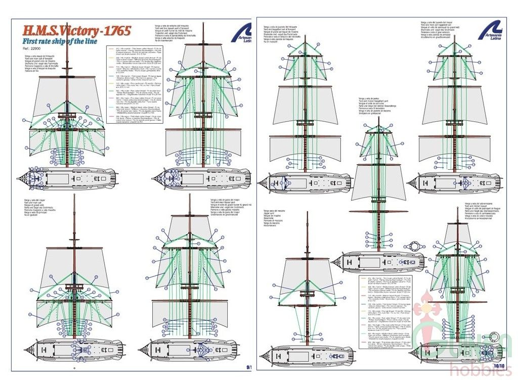 H M S Victory British Ship Of The Line 1230 Mm Length 帆船