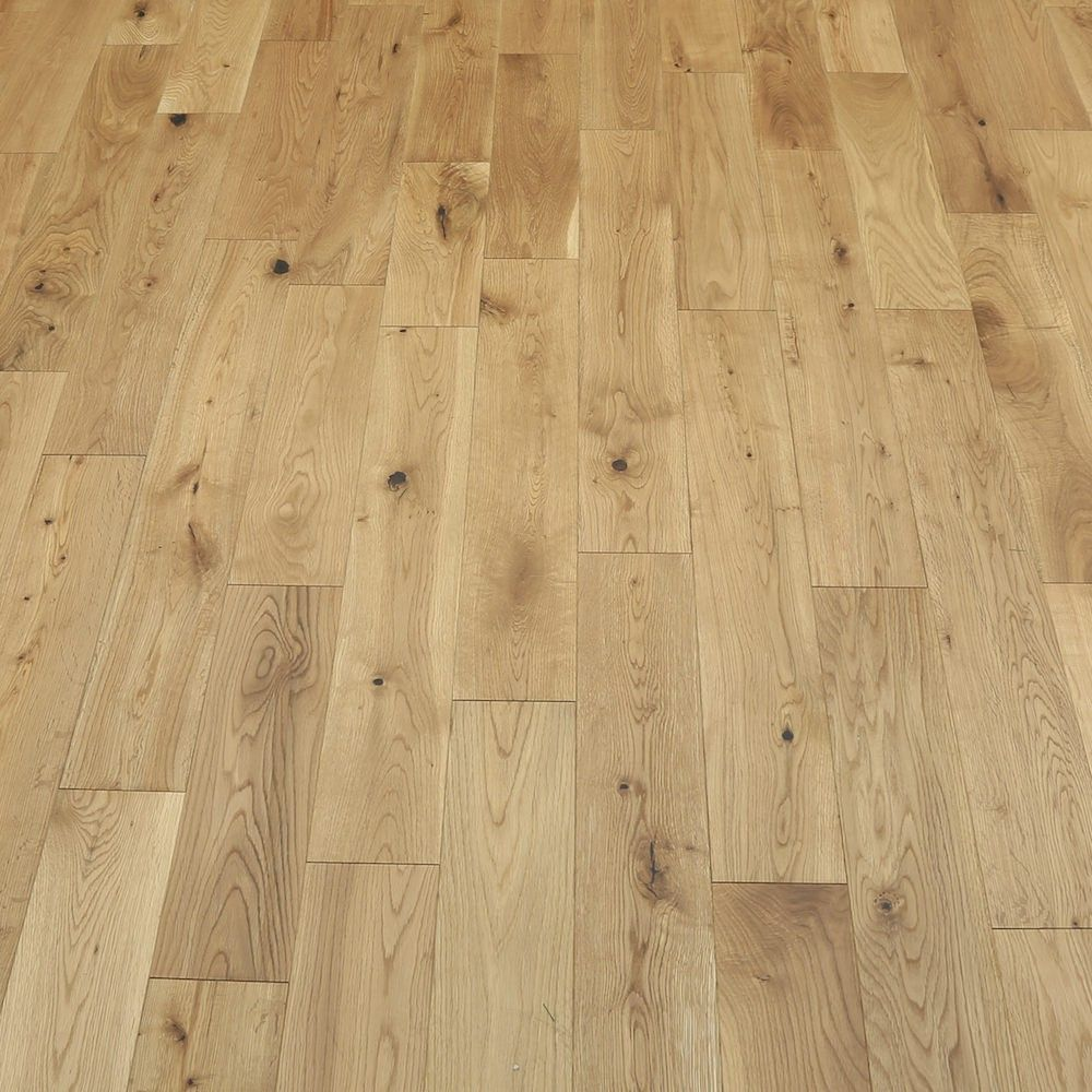 Light Almond Oak Oiled Solid Wood Flooring 3 Solid