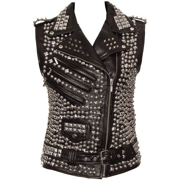Kill Star Overload Vest Jacket (Black) (£240) ❤ liked on Polyvore featuring outerwear, vest, jackets, 11. jackets/hoodies/coats., black and tops