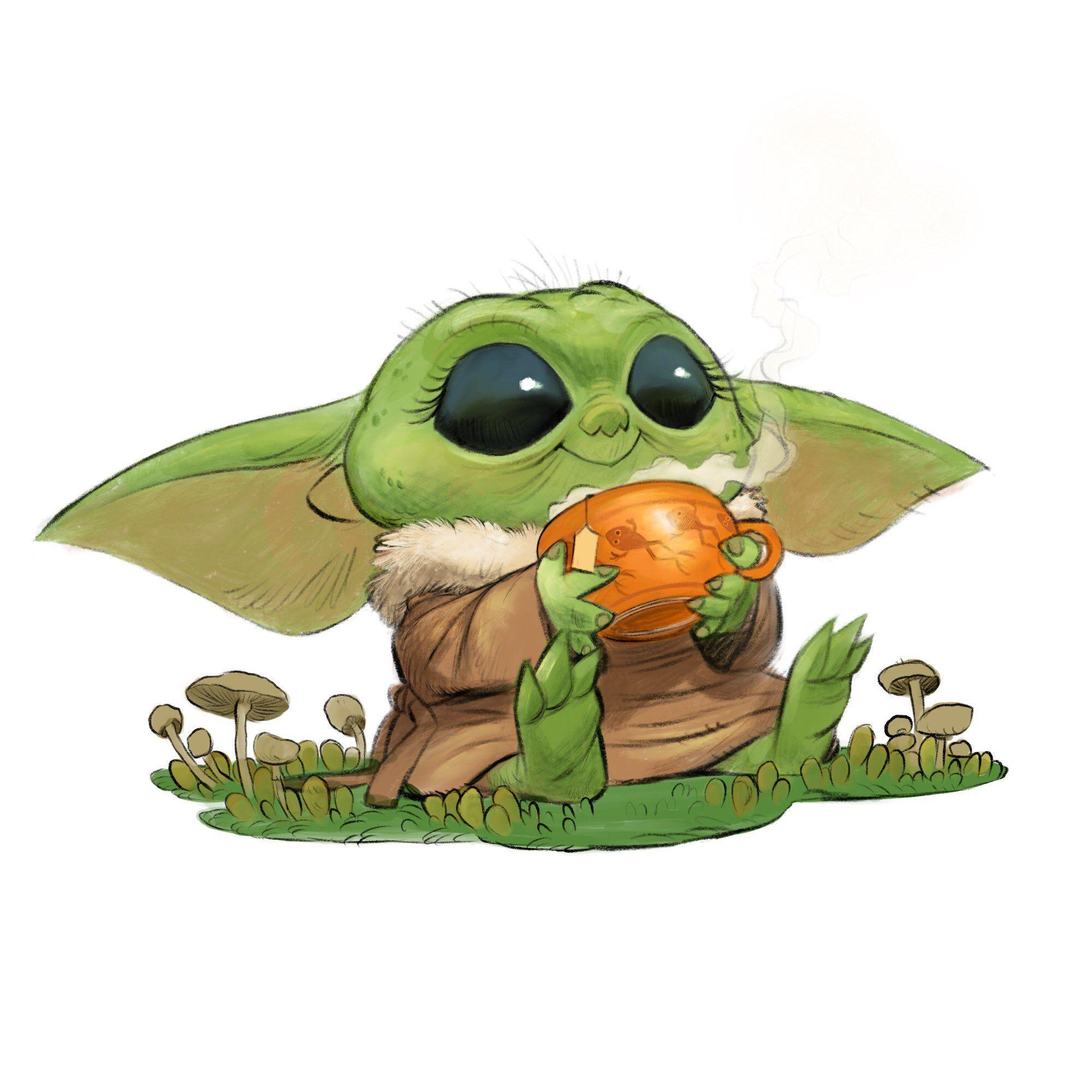 Baby Yoda Star Wars Baby Yoda Art Star Wars Yoda