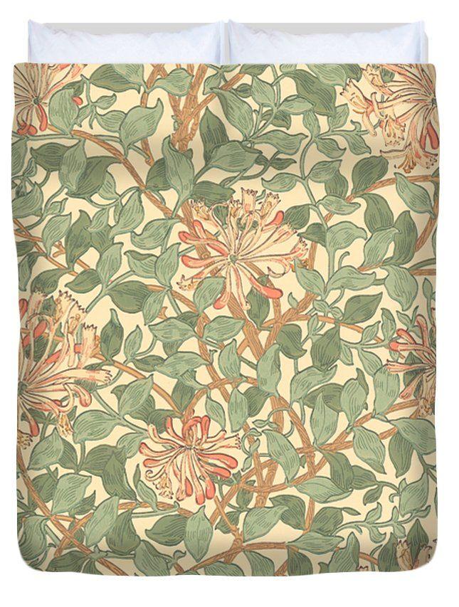 """Honeysuckle Pattern Queen (88"""" x 88"""") Duvet Cover"""