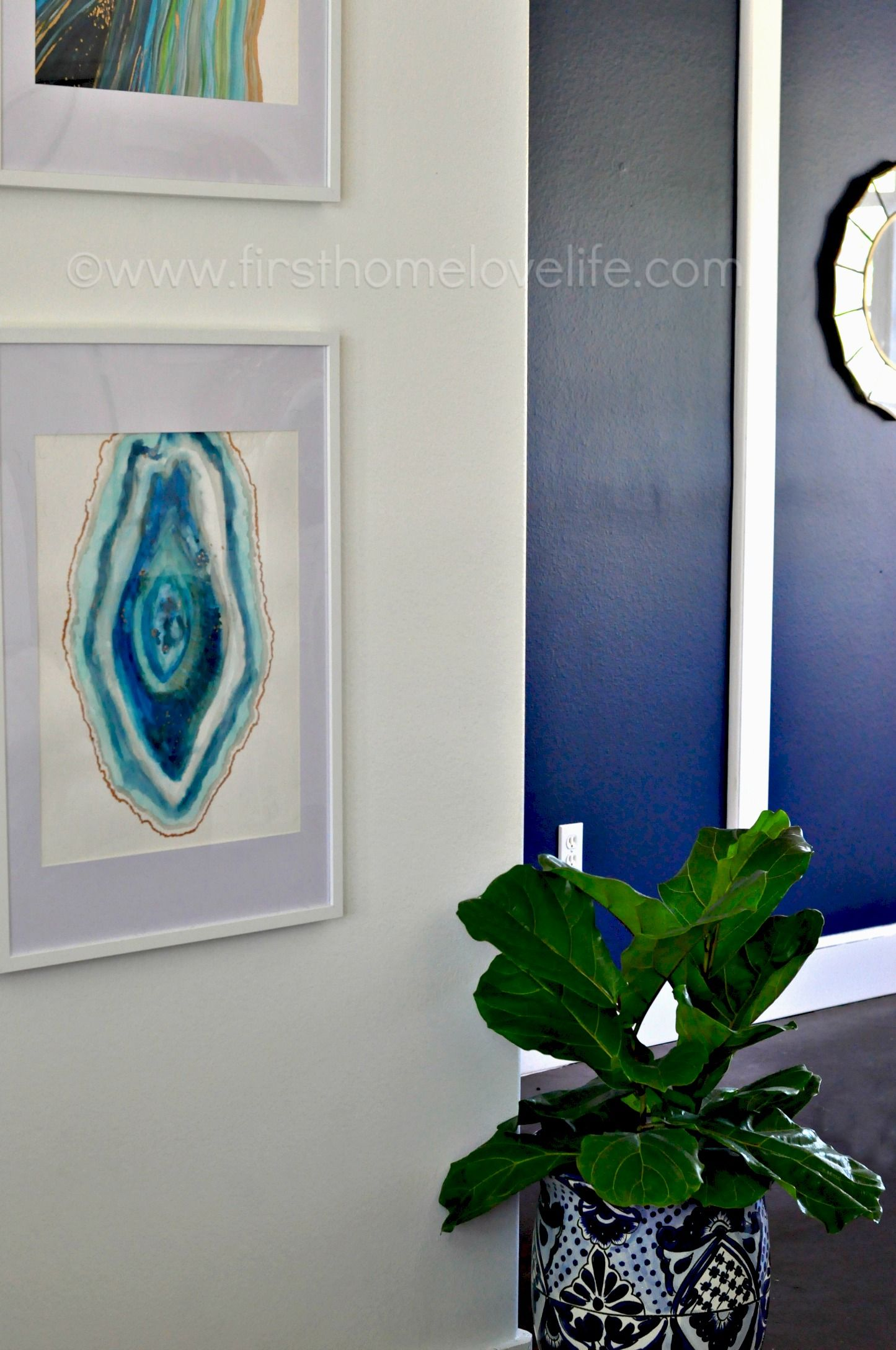 Diy Agate Watercolor Artwork Watercolor Artwork Abstract Wall