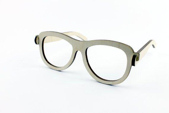 Gafas gafas de madera divertidos / simples gafas / por KWUDLV