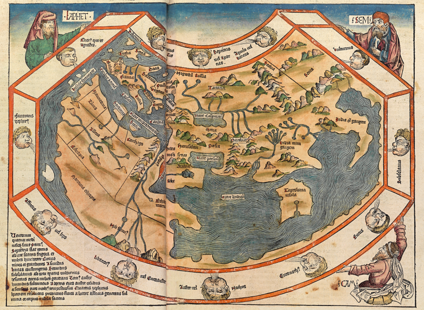 World map from the 1493 nuremberg chronicle antique andor cool world map from the 1493 nuremberg chronicle gumiabroncs Image collections