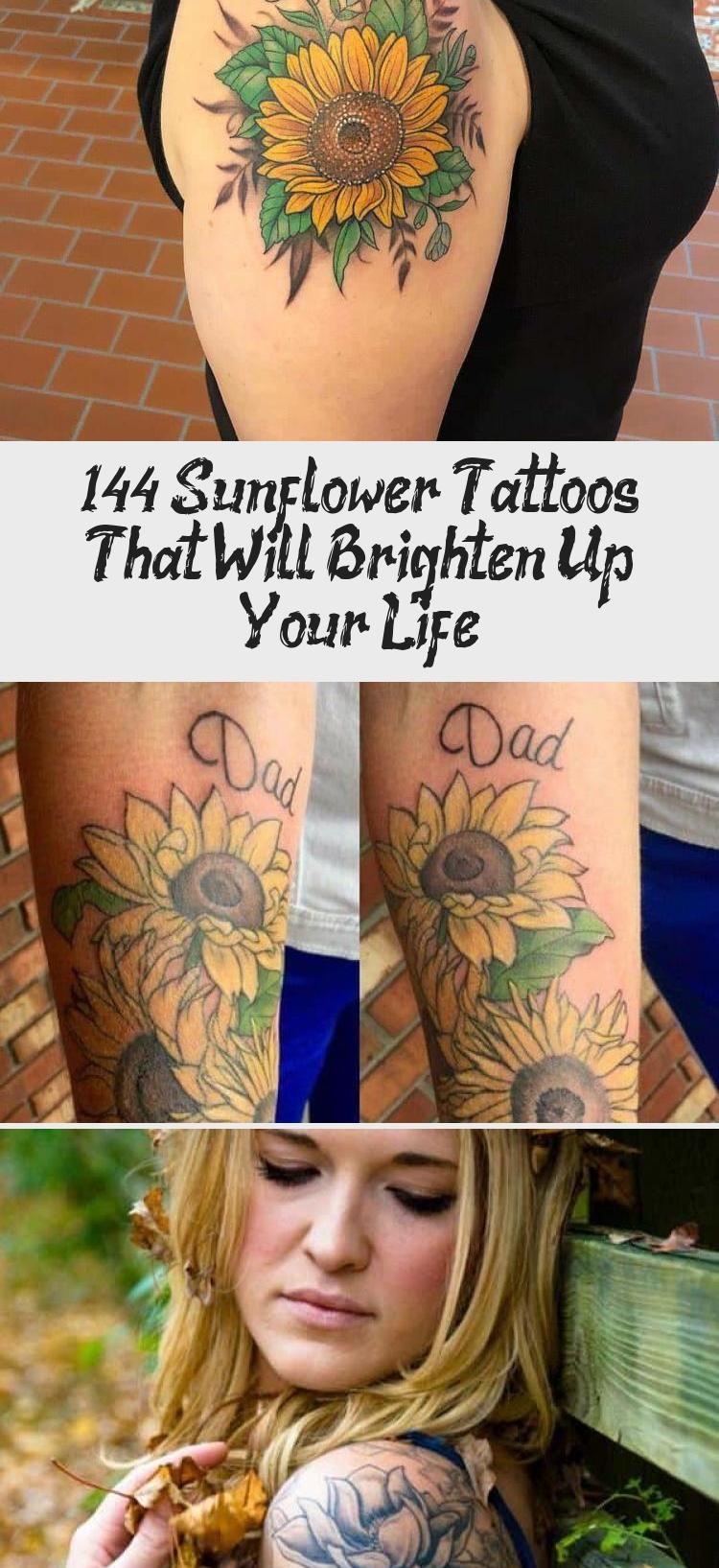 Photo of 144 Sunflower Tattoos That Will Brighten Up Your Life #Wildsunflowertattoos #Ele…