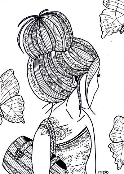 Beautiful Colouring Pages Of Girls Gallery  Images for coloring