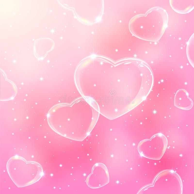 Bubble Hearts On Pink Background Pink Valentines Background With Stars And Soap Affiliate B Valentine Background Photoshoot Backdrops Pink Photo Backdrop