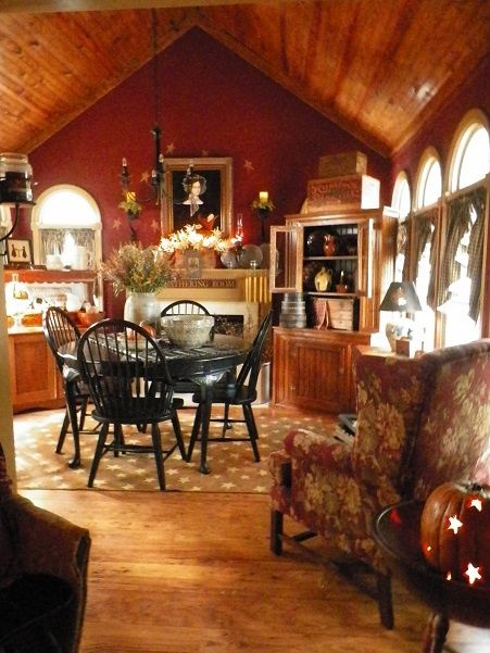 Dwellings The Heart Of Your Home The Keeping Room At The Kitchen Living Room Decor Country Keeping Room Primitive Homes