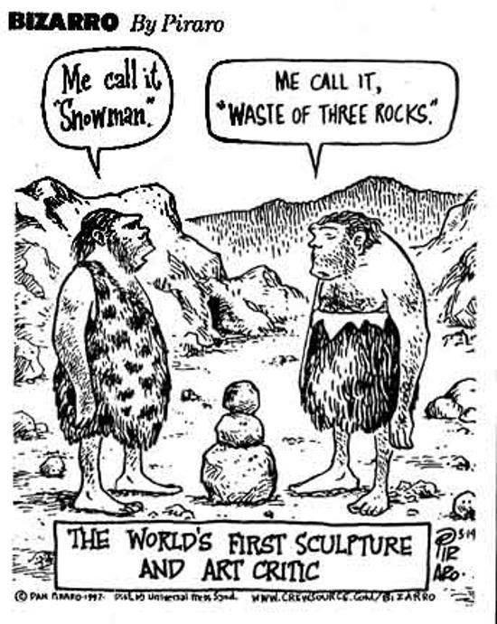 The world's first sculpture and art critic. D Art