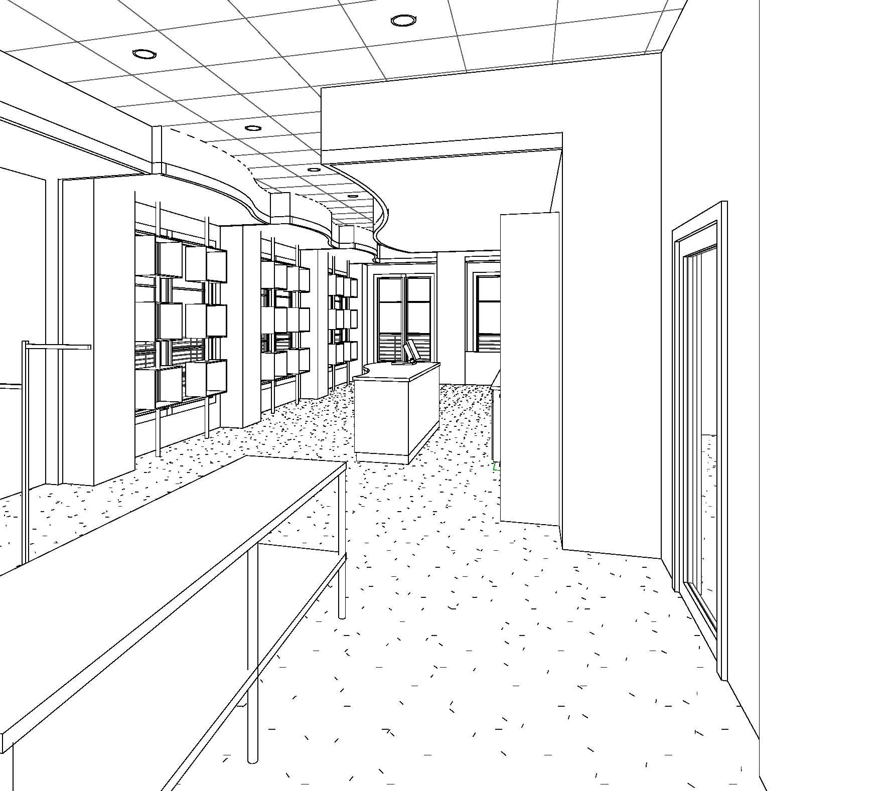 Retail Clothing Store Floor Plan View Of Entrance Into The