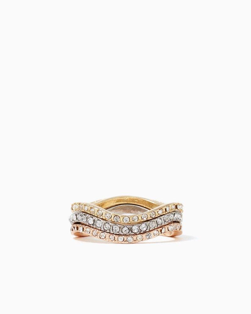 charming charlie   Shia Waved Ring Set   UPC: 100224079 #charmingcharlie