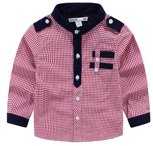6a19dc6bf Handsome Look Boy Red Checkered Shirt Contrast Color Black Checks ...