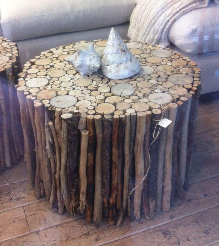 Idee fai da te in legno - Tavolino da salotto | Drift wood, Pebble ...