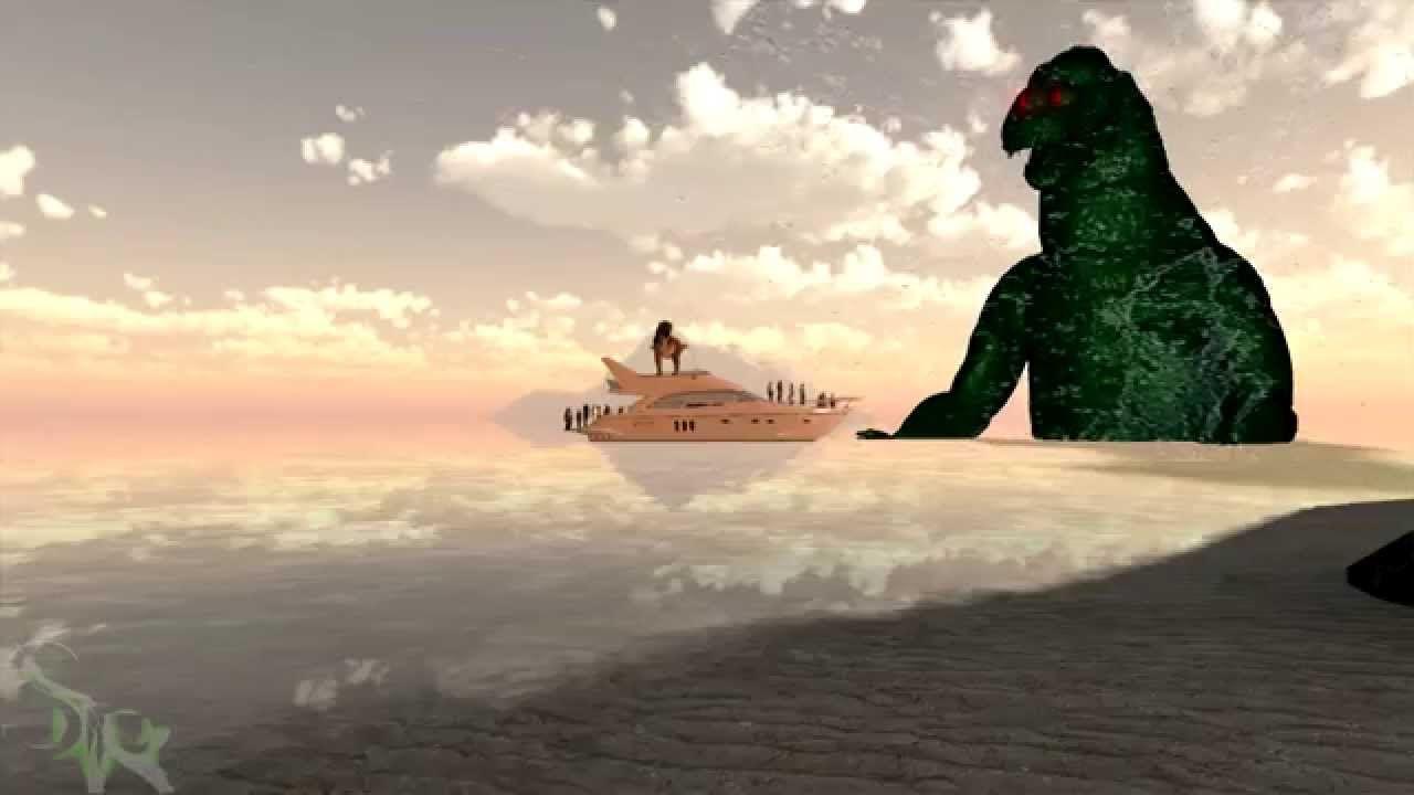 Godzilla vs Tyrannosaurus rex