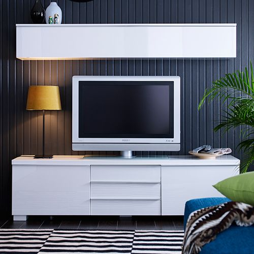 meuble tv besta burs blanc ikea