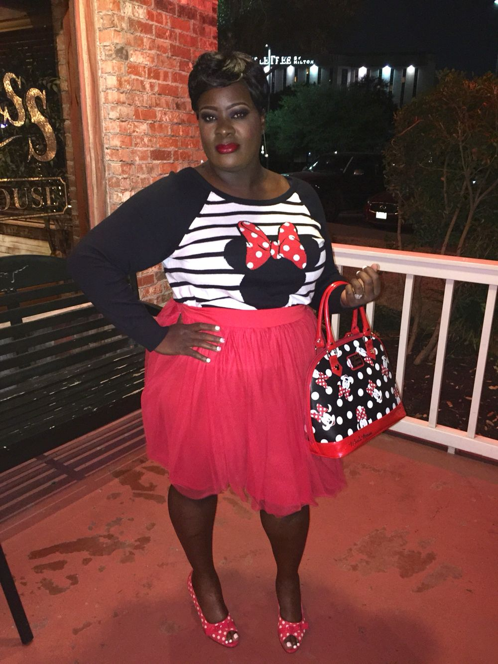 Plus size Minnie Mouse Outfit Women\'s Fashion Red Black and ...