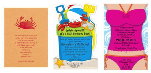 Beach birthday party invitation wording ideas http://www ...