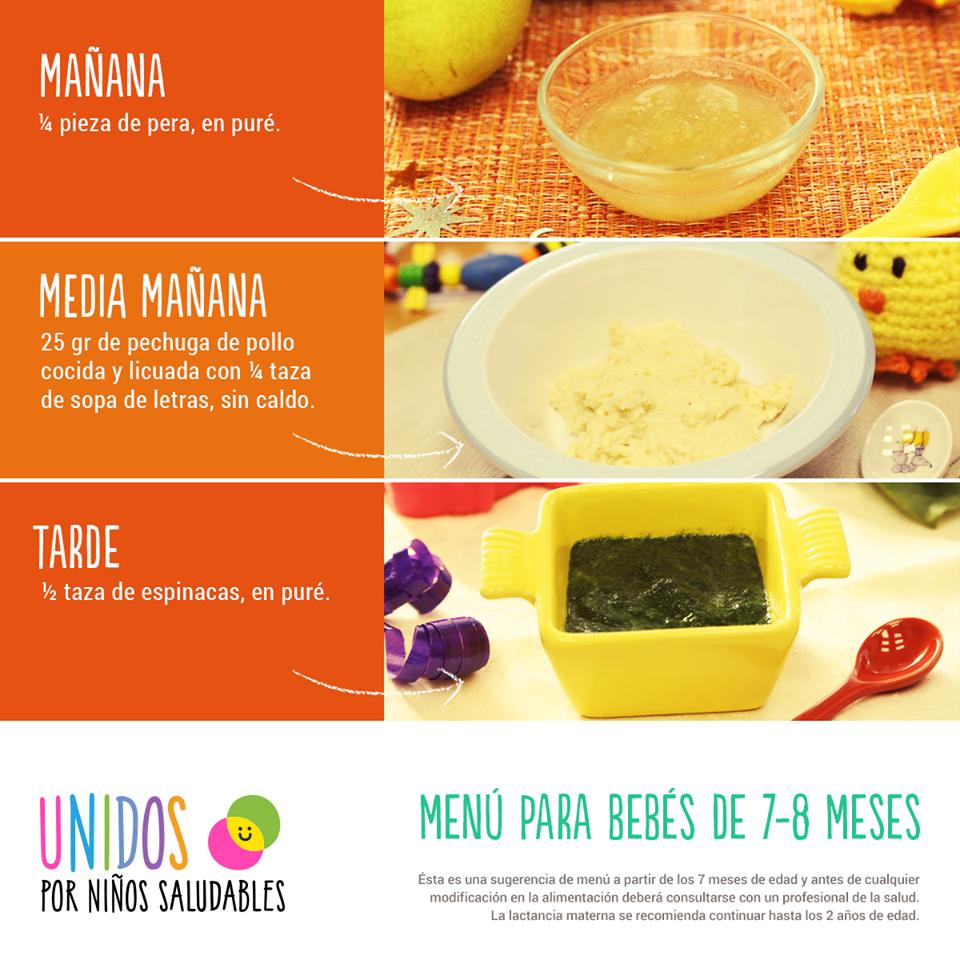 comida saludable para bebe de 7 meses